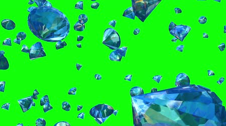 tajemnica : Diamonds Falling on Greenscreen (Loop). Seamlessly loopable realistic animation of falling diamonds. You can   replace background with your own footage or graphics.