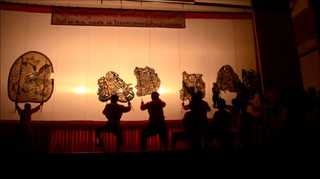 ratchaburi : Nang Yai Puppets Shadow Play at Wat Khanon National Museum, Ratcha Buri Thailand