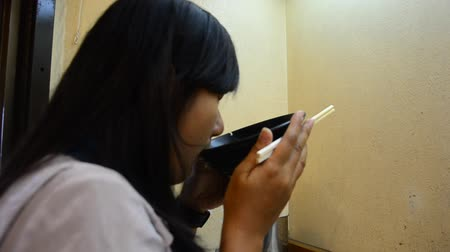 ramen : Thai woman eating ramen at restaurant in Wakayama, Japan