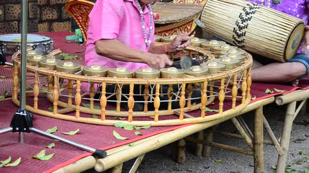 ratchaburi : Thai play traditional thai musical instruments concert show for travellers at Wat Khanon on April 14, 2015 in Ratchaburi Thailand.