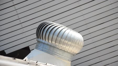 cooling tower : Roof Ventilator or air blower on roof of house Stock Footage