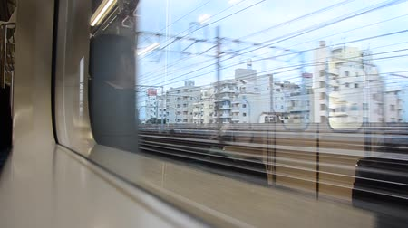путешествие : View of Saitama and Tokyo city from Express Electric Railway train from Tokyo city go to Saitama city for travel and visit Kawagoe or Kawagoe in Tokyo, Japan