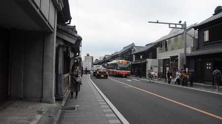 edo : Traffic road with Japanese people and foreigner traveler walking and travel at Kawagoe or Kawagoe Little Edo in town of Kanto region in Saitama, Japan
