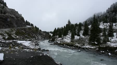 tirol : Motion of stream from waterfalls of Kaunertal glacier in Kaunergrat nature park near Pitztal Valley in region of Tyrol is a historical region in the Alps at northern Italy and western Austria Stockvideo