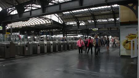 french metro : French people and foreigner travelers walk and wait train at Gare de Paris-Est or Paris Gare de lest railway station of Paris Metro on September 7, 2017 in Paris, France