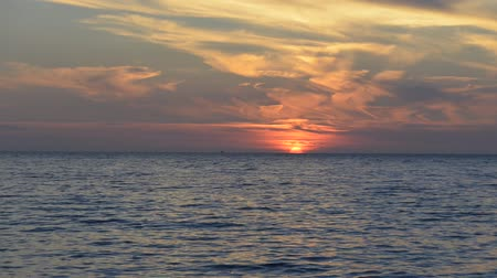 skala : sunset at Lesvos Stock Footage