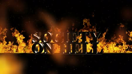 outlier : Society on Fire Burning Hot Word in Fire