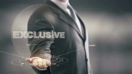 etiketler : Exclucive Businessman Holding in Hand New technologies Stok Video