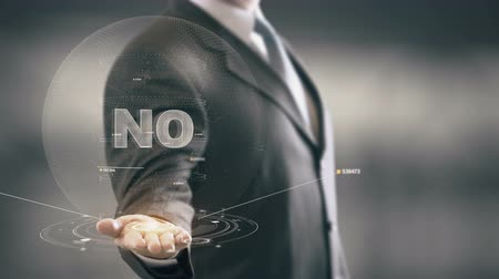 sem problemas : No Businessman Holding in Hand New technologies