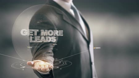 kreatywność : Get More Leads with hologram businessman concept