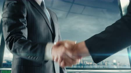 Businessman handshaking at important meeting in Baku