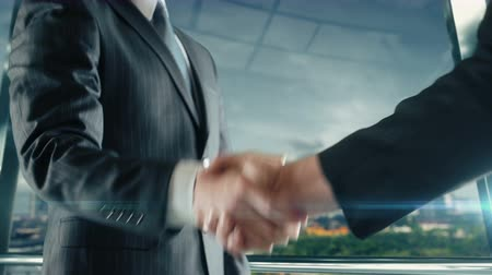 Businessman handshaking at important meeting in Changzhou Stock Footage