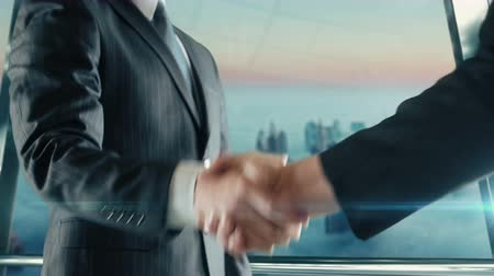 Businessman handshaking at important meeting in Dubai second version