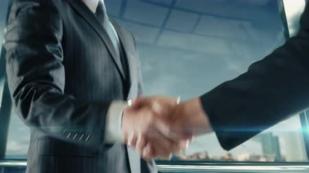 Businessman handshaking at important meeting in Miami second version