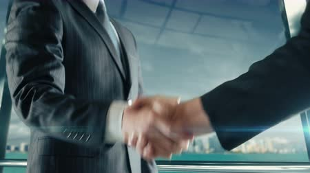 Businessman handshaking at important meeting in Miami third version