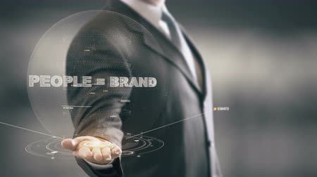 grzebień : People = Brand with hologram businessman concept Wideo