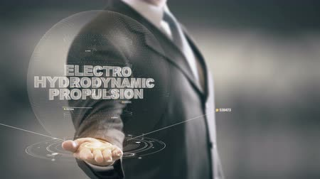 electro : Electro Hydrodynamic Propulsion with hologram businessman concept