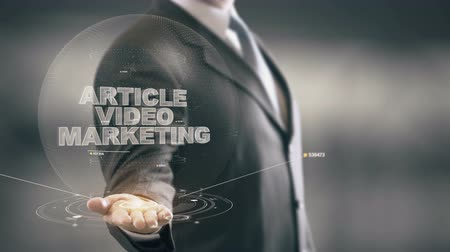 operaciones : Article Video Marketing con el concepto de holograma de negocios