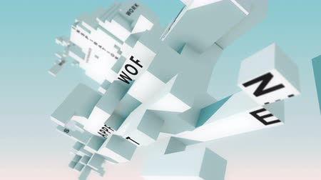 belirleme : Information Technology words animated with cubes Stok Video