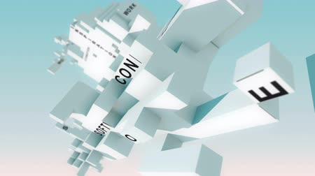 conectado : Internet Of Things words animated with cubes Stock Footage