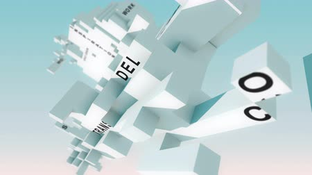 bloklar : Military Logistics words animated with cubes