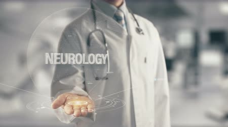 jigsaw : Doctor holding in hand Neurology Stock Footage