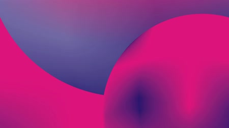 rózsaszín : Vibrant gradient. Abstract, dynamic video with animation. Fashionable UV colors. Motion graphics with geometric shapes Smooth camera movement with blur at the end. Stock mozgókép