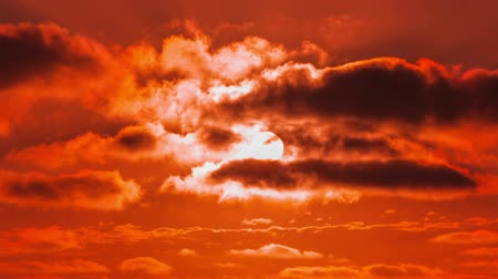 atmosphere : Time Lapse - Sunset with cloudscape Stock Footage