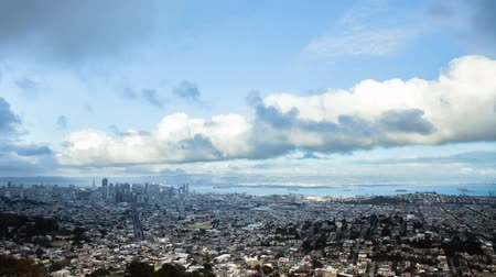 waterkant : Time Lapse - Luchtfoto van San Francisco Downtown van Twin Peaks