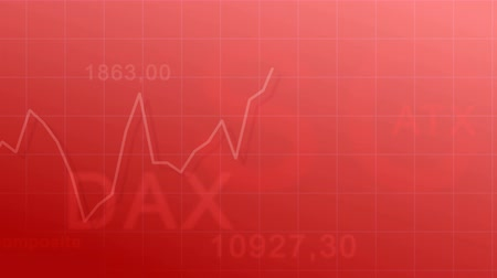 Abstract animated background - the abbreviation of stock indices and exchange rate diagram. Dostupné videozáznamy