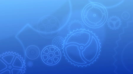 Animated Background - the endless rotation of various gears.