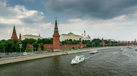 europeu : Moscow Kremlin and Ivan the Great Bell Tower, Timelapse Video, Russia Vídeos