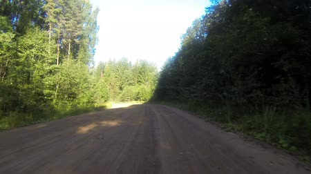 путешествие : Time lapse of car driving on rural road