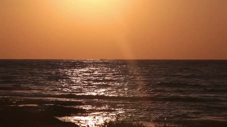 chipre : Sunset in Mediterranean sea, Cyprus Stock Footage