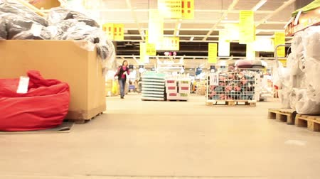 dağılım : Inside of shop warehouse, fast playback