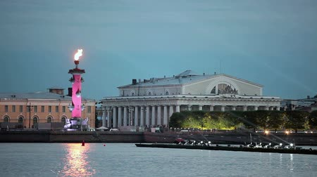vasilevsky : Arrow of Vasilevsky island during a holiday celebration Scarlet Sails at the White Nights in St. Petersburg, Russia.
