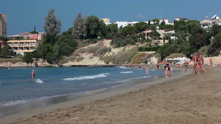 ciprus : Sandy beach of Coral Bay. It is a popular tourist resort in the Peyia near of the city of Paphos, Mediterranean, Cyprus