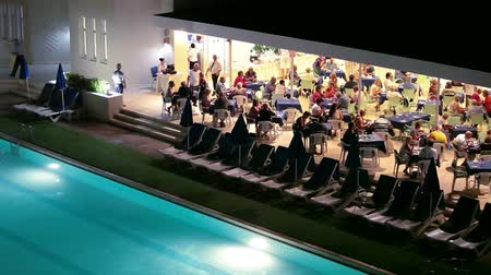 отель : Dinner with smorgasbord in Cypriot three stars hotel in open air terrace, Cyprus