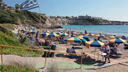 ciprus : The Coral Bay beach is a the finest example of fine sand beach in the whole of Cyprus. Located is in Peyia, Paphos