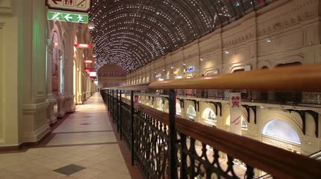 passages : The GUM - State Department Store on Red Square, indoor galeries and passages on circa September, 2013 in Moscow, Russia. GUM is the large store in center of city