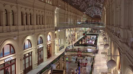 passages : Interiors of galleries and passages of GUM - State Department Store in center of city