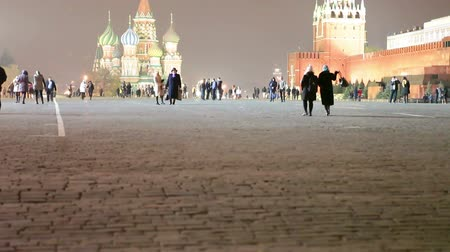greatest : View of Kremlin with Saint Basils Cathedral on Red Square at night in Moscow, Russia