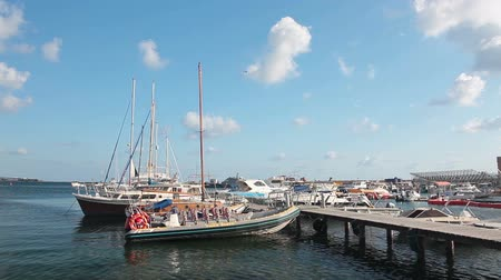 ciprus : Paphos Marina with yachts and pleasure boats, Cyprus