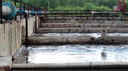 talaj : Industrial volumes with wastewater in water treatment plant for cleaning