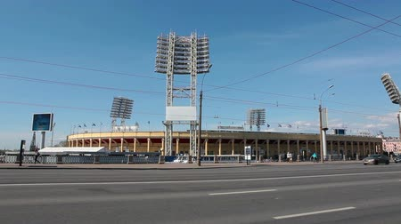 historical building : Petrovsky Stadium - sports complex arena in Saint-Petersburg, Russia