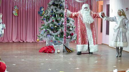 ded : Santa Claus is coming to children party in kindergarten. Russian Christmas celebration with Ded Moroz