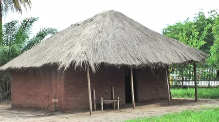 традиционный : The Kijiji cha Makumbusho, or Village Museum, with traditional huts from 16 different Tanzanian ethnic groups. Outskirts of Dar es Salaam Стоковые видеозаписи