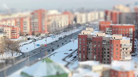 общественный : View from above on Leninsky prospect (avenue) in Saint-Petersburg, Russia
