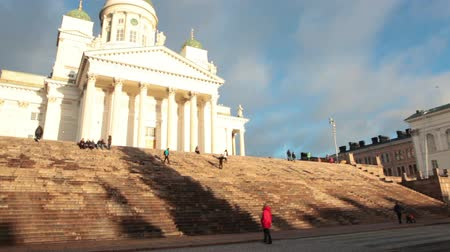 senate square : HELSINKI, FINLAND - CIRCA, DEC, 2015: The Helsinki Cathedral is the Finnish Evangelical Lutheran church of the Diocese of Helsinki. Located on the Senate Square