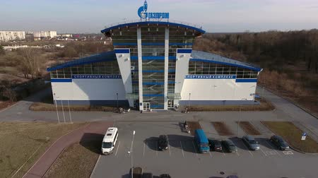 gazprom : ST. PETERSBURG, RUSSIA - CIRCA APR, 2016: The building of a sports and recreation complex of Gazprom is on Avenue (prospect) Veteranov, Kirovsky district. Chain of sport centers are in city
